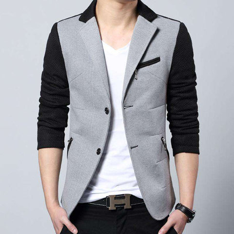 Cotton Slim Fit Single Breasted Blazer