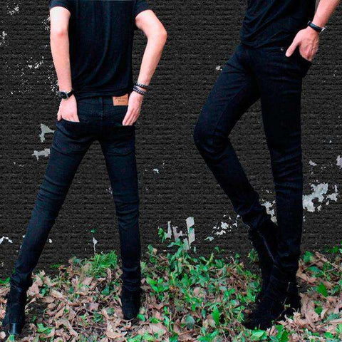 Pencil Super Skinny Multi Coloured Elastic Ripped Washed Faded Slim Fit Long Jeans - Wear.Style