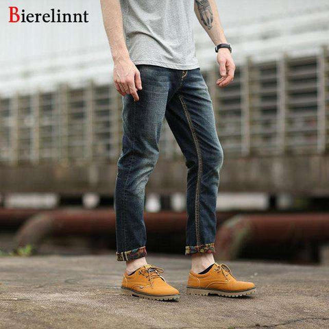 Elastic Casual Straight Slim Cotton Good Quality Denim Jeans