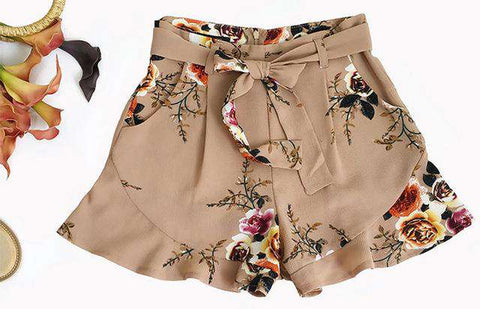 Floral Printed Summer Style Hot Loose Shorts - Wear.Style