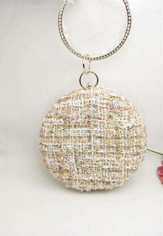 Satin Lace Fashion Grid Rhinestone Clutch - Wear.Style