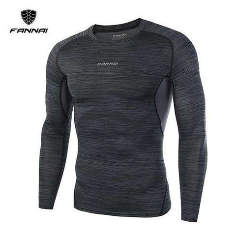Men Running Fitness Compression Long Sleeve T Shirt
