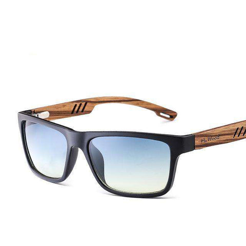 Zebra Wood Gradient Driving Fishing Mirror Lenses Sunglasses