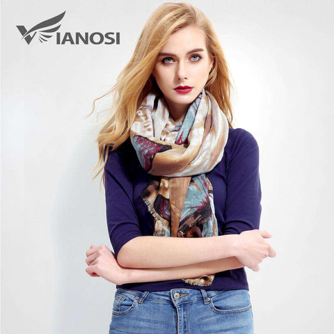 Luxury Printed Cotton Scarf - Wear.Style