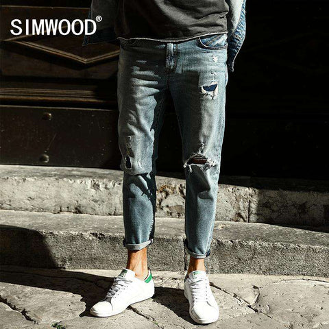 Ankle-Length Slim Fit Jeans