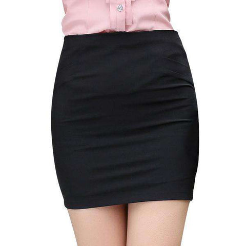 Above Knee Skirt Charm Style Solid Colour Mini Skirts - WS-Skirts