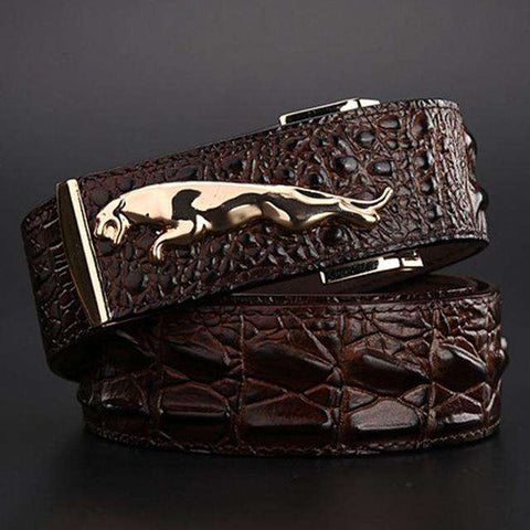 Jaguar crocodile Style Gold High Quality Belts - Wear.Style