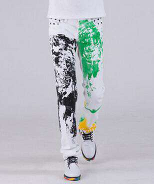Printed Straight Slim Fit Jeans - Wear.Style