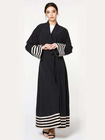 Black Loose Long Turkish Muslim Robe