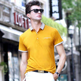 Short Sleeve Casual Solid Slim Fit Polo Tees