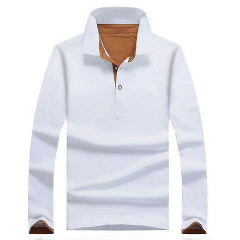 Top Grade Slim Fit Long Sleeve Cotton Casual Polos Tees