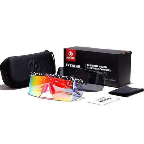 3aa3d0fa92 Superstar Oversized One-piece Lens with Adjusting Nose Pad Sunglasses