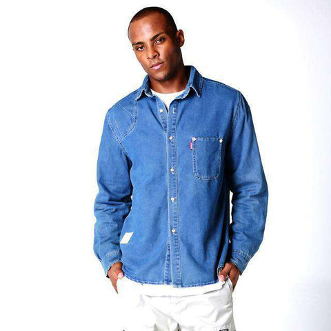 Long Sleeve Casual Slim Denim Shirt