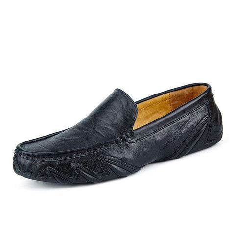 British Style Genuine Leather Slip On Shoes