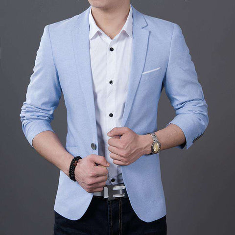 Long Sleeve Slim Fit Blazer