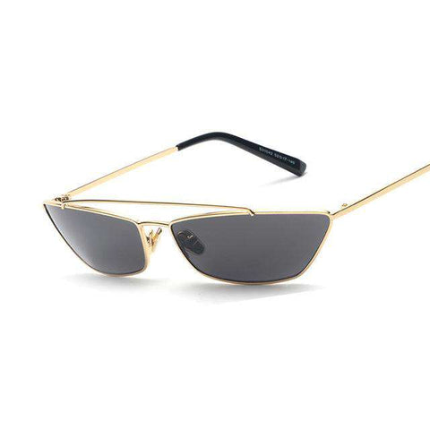 Flat Top Design Cat Eye Designer Metal Frame Retro Sun Glasses