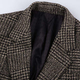 Earth Colour woollen Plaid Slim Blazer