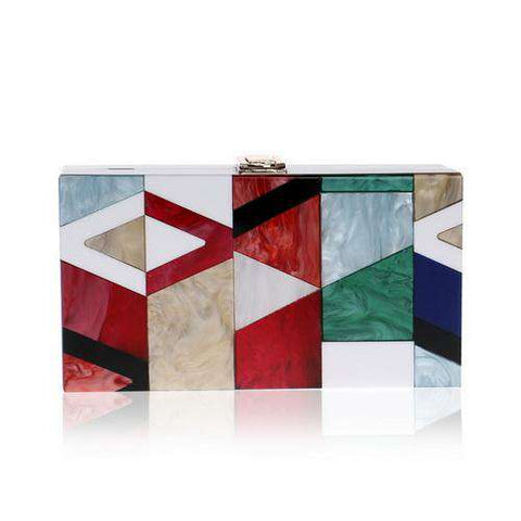 Acrylic Geometric Lattice Clutch Purse Bag
