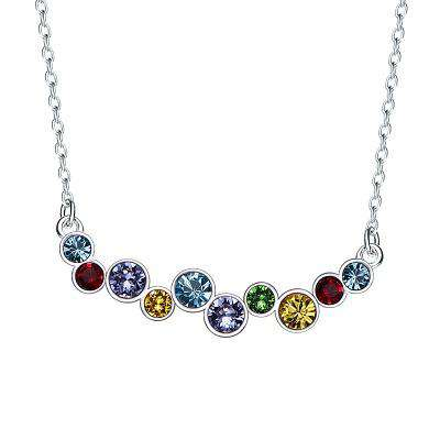 Swarovski S925 Sterling Silver Crystals Pendants Necklace choker