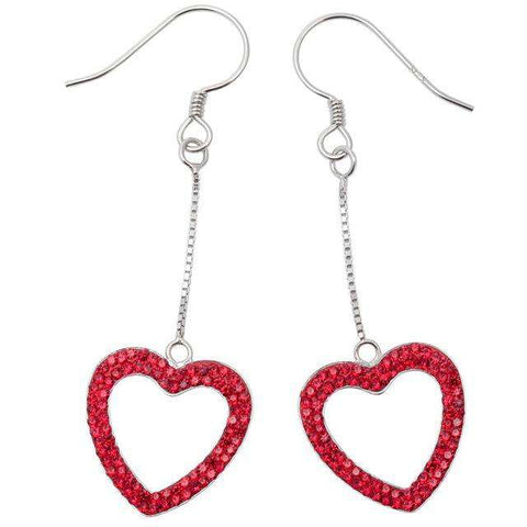 Heart Drop Crystal Earrings