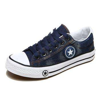 Casual Blue Denim Canvas Shoes