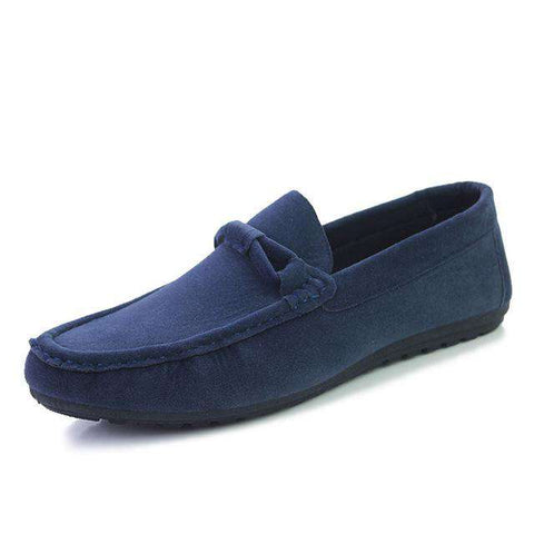 Faux Suede Leather Slip-On Loafers