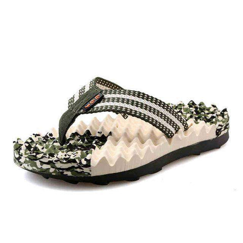 Fashion Rubber Sole Comfortable Non-slip Thongs Beach Slippers
