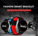 Bluetooth Heart Rate Blood Pressure Oxygen Monitor SMS Whatsapp Notification Wristband Smart Bracelet