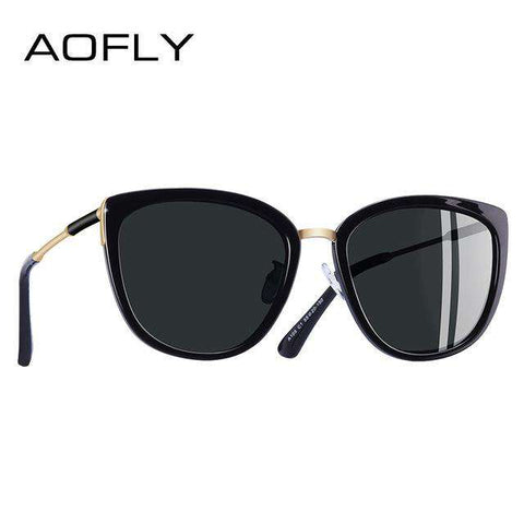 Cat Eye Small Polarised Metal Legs Shades UV400 Sunglasses