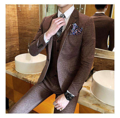 England Style Single Breasted Skinny Suit