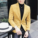 Suede One Button Blazer