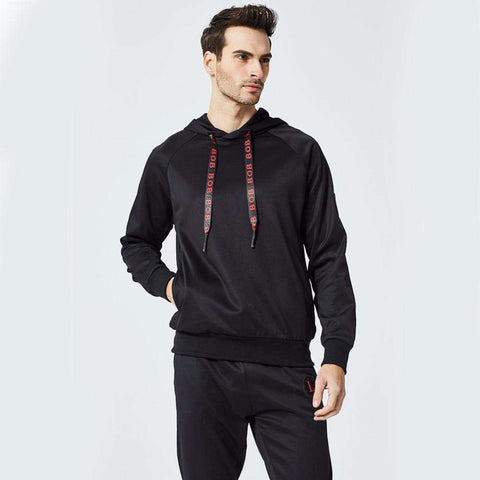 2 Piece Hooded Sporting Suit Sweatsuit Tracksuit Set Sweatpants Sweatshirts