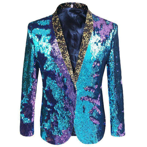 Double Colour Sequins Blazer