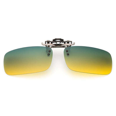 Day and Night Vision Polarised Clip on UV400 Sunglasses
