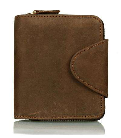 Genuine Leather Vertical Style Long Wallet