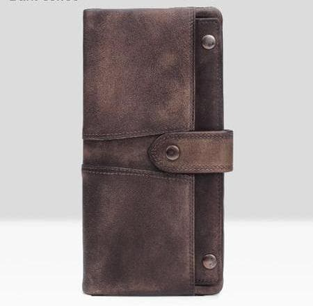 Multi-function Vintage Genuine Leather Clutch Long Wallet
