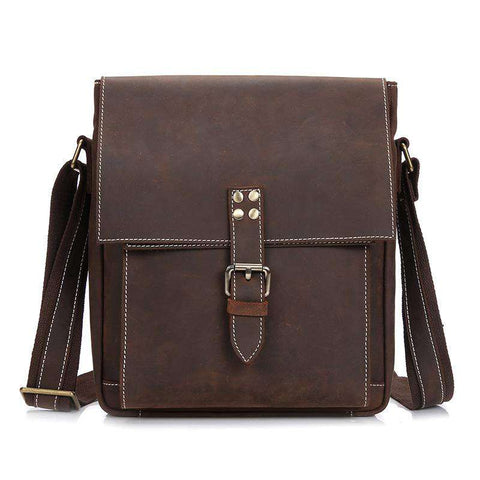Genuine Leather Shoulder Crossbody Sling Brown Bag