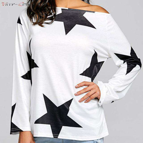 Long-sleeved Irregular Kawaii Simple top