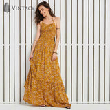 Halter Backless Floral Print Bohemian Cross Criss Lace Up Floor-Length Long Maxi Dress