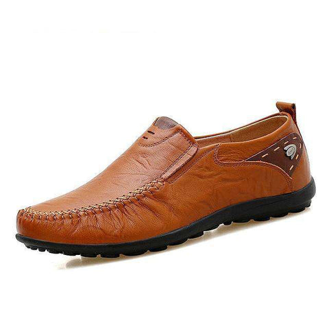 Soft Leather Handmade Comfortable Flat Shoes Loafers