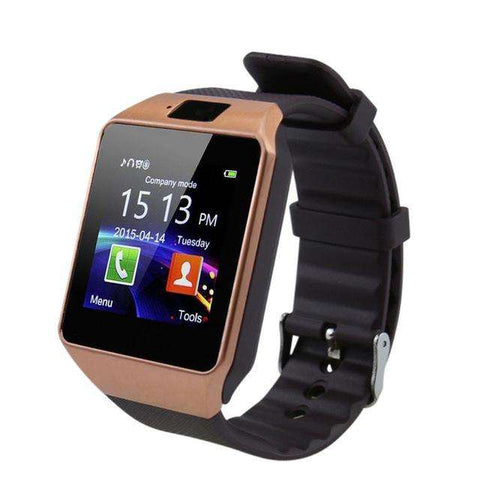 Gold Bluetooth Smart Watch with Camera Phone Call for iPhone Xiaomi Samsung HUAWEI