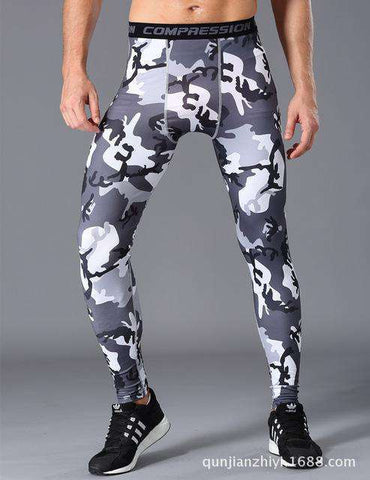 Army Camouflage Stretch Compression Leggings military Workout sweatpants
