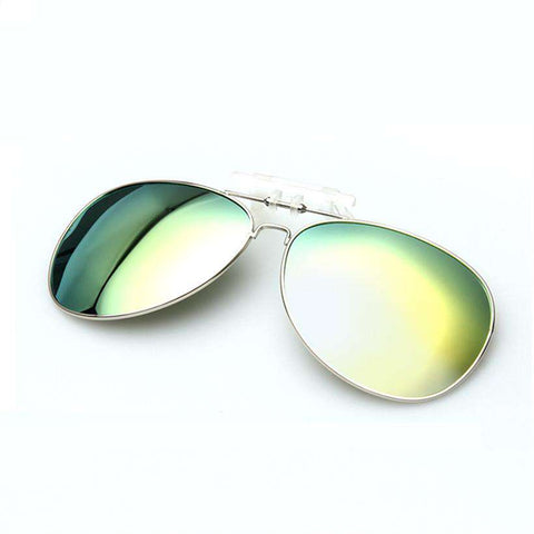 Polarised Clip on Pilot UV400 Night Driving Sunglasses