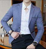 Single Breasted Striped Slim Fit Stylish Dot  Striped Blazer