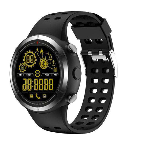 Waterproof Bluetooth 4.0 Stopwatch Sport Wristwatch Pedometer Smartwatch for Android IOS