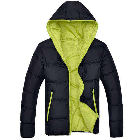 Winter Casual Hooded Thick Padded Zipper Slim Parka Warm Jacket