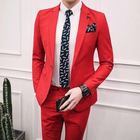 One Button Slim Fit CostumeSuit (Blazer + Pant)