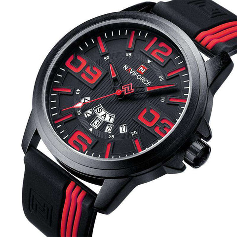 Luxury Waterproof Quartz Rubber Wristwatch