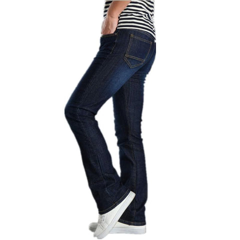Bootcut Bell Bottom Skinny Fit Cotton Denim Flared Jeans