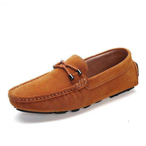 Soft Genuine Leather Flats Driving Shoes